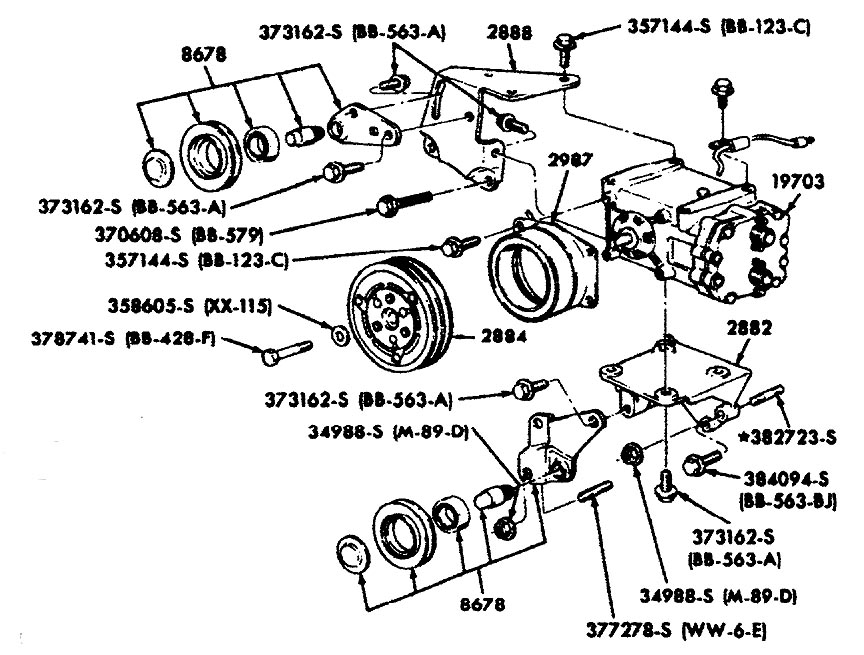 engine general With auto ac compressor parts diagram auto parts diagrams